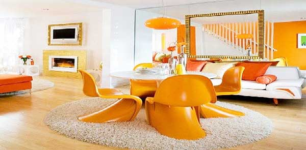 În Feng Shui, culorile deschise precum verde, albastru sau chiar portocaliul energic sunt preferate în camera de zi