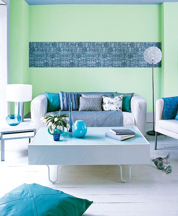 Aquamarin culoarea anului 2017 in designul de interior