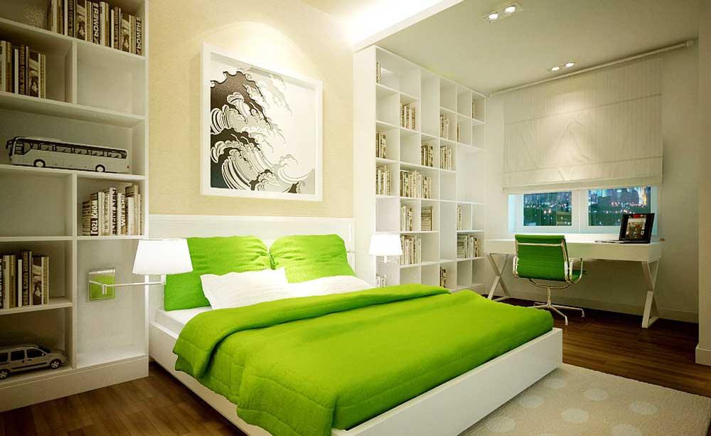 Culorile calde și pale precum piersică, bej și crem sunt ideale pentru un dormitor Feng Shui
