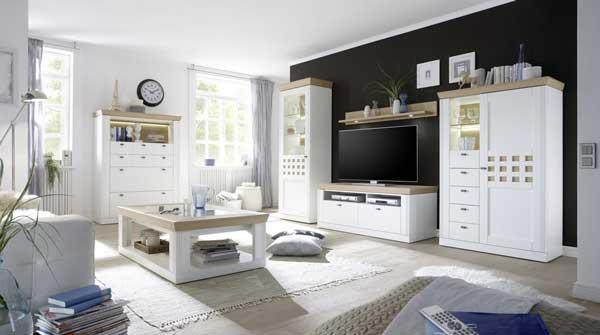 Setul de mobila de living Bolero de culoare alba