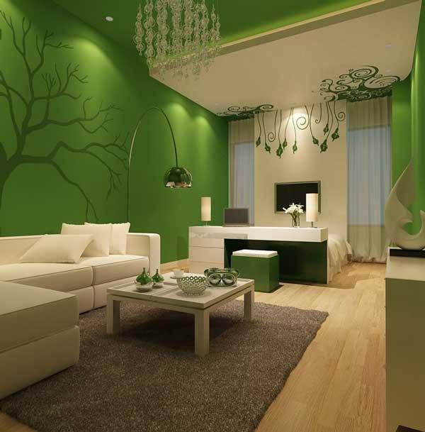 Verdele pastel este recomandat pentru o sufragerie ce respecta regulile Feng Shui