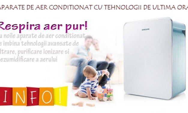 Aparate de aer conditionat cu filtrare, purificare, ionizare si dezumidificare a aerului
