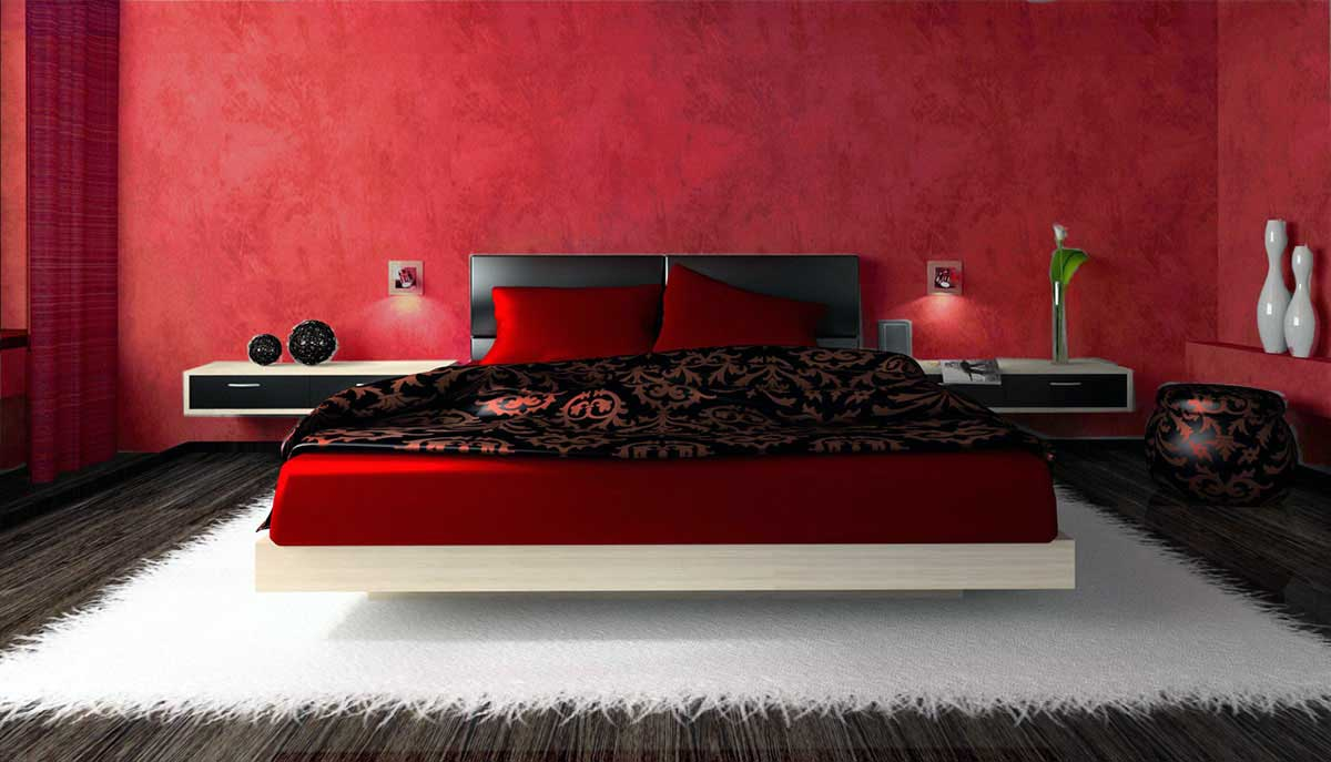 Ce spune culoarea dormitorului tau despre tine? Dormitorul Rosu