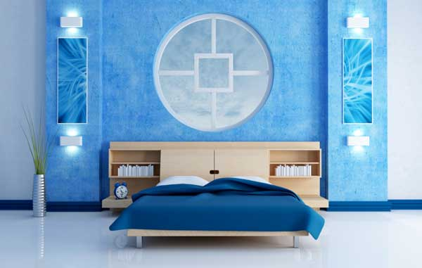 Ce spune culoarea dormitorului tau despre tine? Dormitor albastru