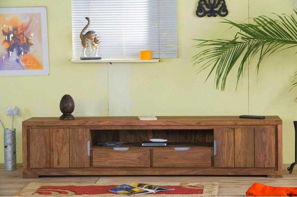 Măsuță / Comoda TV din lemn de palisandru tratat cu ceara solida