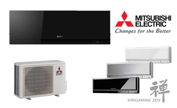 Aparate de aer conditionat culoarea neagra clasa energetica maxima Mitsubishi Kirigamine Zen