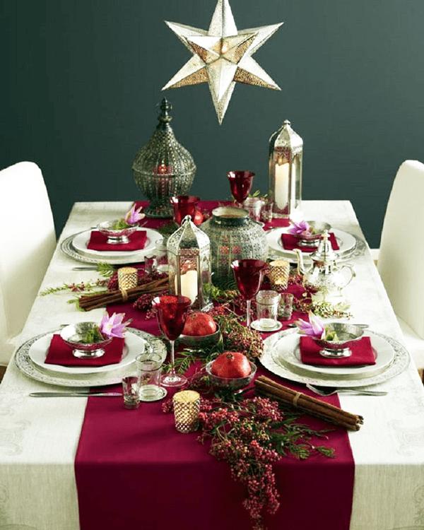 Idei si decoratiuni pentru masa de Craciun