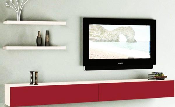 Living modular Emma suspendat Ferrara Rosu Bordo